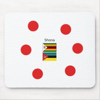 Mousepad Língua de Shona e bandeiras de Zimbabwe e de