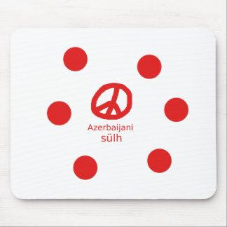 Mousepad Língua e design azerbaijanos do símbolo de paz