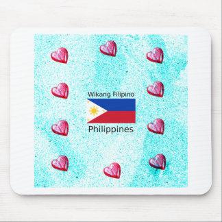 Mousepad Língua filipina de Wikang e bandeira de Filipinas
