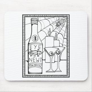 Mousepad Linha design de Martini do Newt do mascarada da