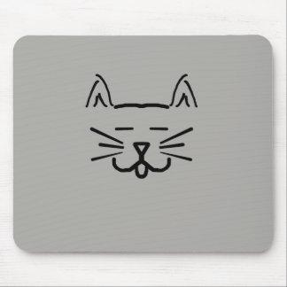 Mousepad linha tapete do rato da cara do gato da arte