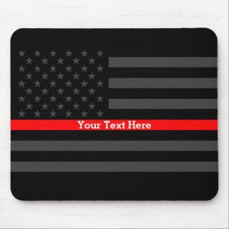 Mousepad Linha vermelha fina elegante bandeira preta