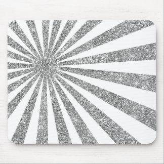 Mousepad Linhas brancas brilho das listras da prata de