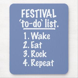 Mousepad Lista do tumulto do ` do festival' (branca)