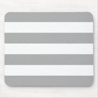 Mousepad Listras cinzentas e brancas da luz corajosa