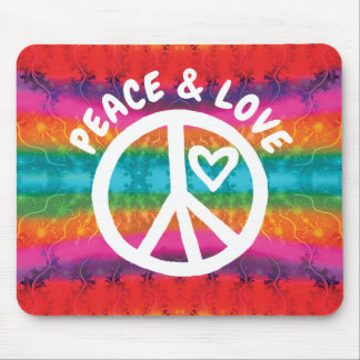 Mousepad Listras da tintura do laço da paz e do amor
