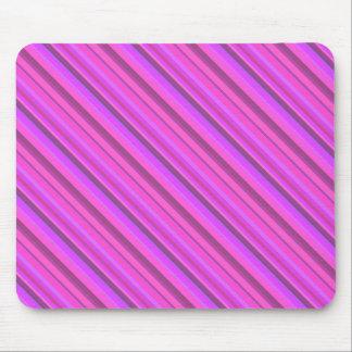 Mousepad Listras diagonais cor-de-rosa