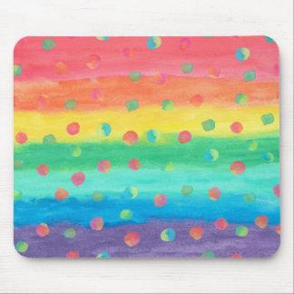 Mousepad Listras e pontos coloridos da aguarela