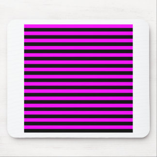 Mousepad Listras finas - preto e fúcsia
