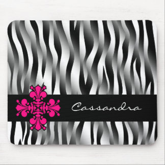 Mousepad Listras preto e branco da zebra com a decoração do