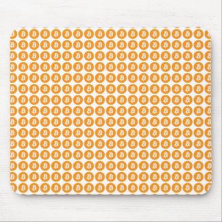 Mousepad Logotipo cripto da moeda de Bitcoin