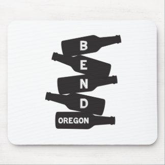Mousepad Logotipo da pilha da garrafa de cerveja de Oregon