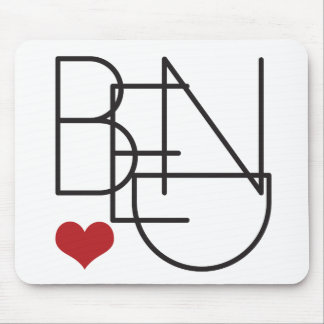 Mousepad Logotipo do coração da palavra de Oregon da