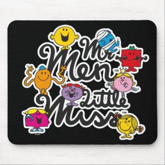 Mousepad Logotipo do grupo do Sr. Homem Pequeno senhorita |
