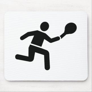 Mousepad Logotipo do jogador de ténis