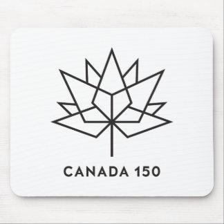 Mousepad Logotipo do oficial de Canadá 150 - esboço preto