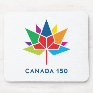 Mousepad Logotipo do oficial de Canadá 150 - multicolorido