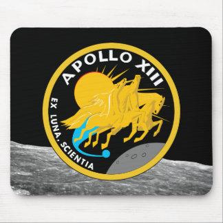 Mousepad Logotipo do remendo da missão da NASA de Apollo 13