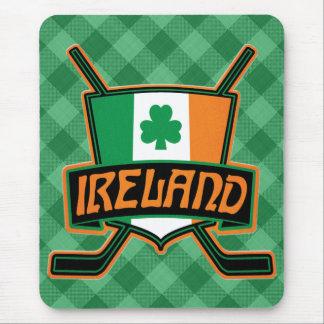 Mousepad Logotipo irlandês Mousemat da bandeira do hóquei