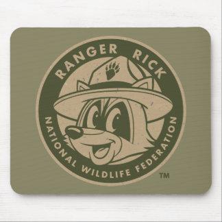 Mousepad Logotipo Khaki do rick da guarda florestal do rick