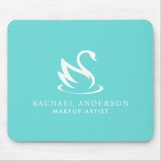 Mousepad Logotipo minimalista da cisne bonita