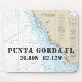 Mousepad Longitude náutica da latitude de Punta Gorda