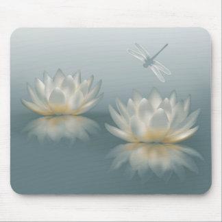 Mousepad Lotus e tapete do rato da libélula