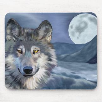 Mousepad Lua cheia do lobo do inverno