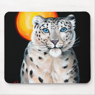 Mousepad Lua do leopardo de neve