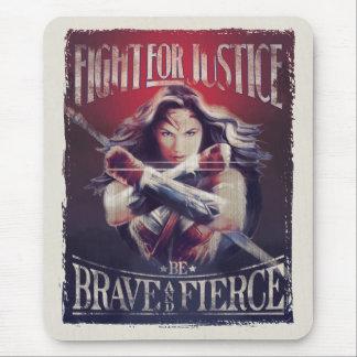 Mousepad Luta da mulher maravilha para justiça