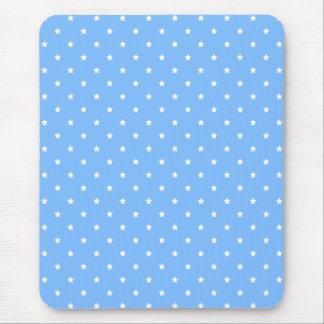 Mousepad Luz - azul e branco. Teste padrão de estrela