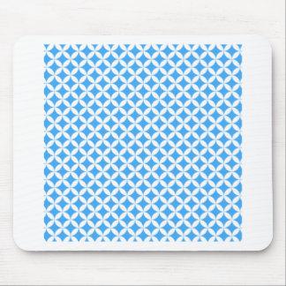 Mousepad Luz - teste padrão azul do círculo