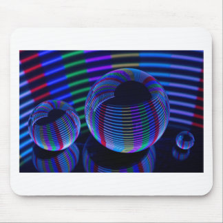 Mousepad Luzes espirais no cristal