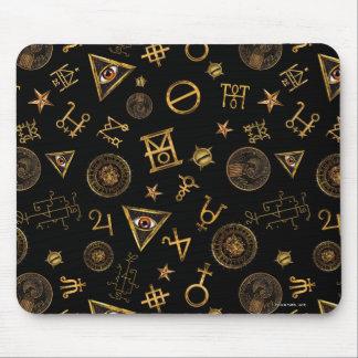 Mousepad M.A.C.U.S.A. Símbolos e teste padrão mágicos das