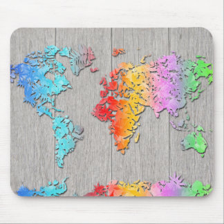 Mousepad madeira 7 do mapa do mundo