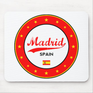 Mousepad Madrid, Spain, circle, white