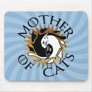 Mousepad Mãe do tapete do rato dos gatos