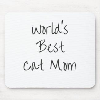 Mousepad Mamã do gato do mundo a melhor - preto