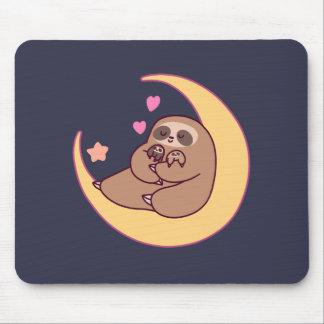 Mousepad Mama Preguiça e bebês da lua