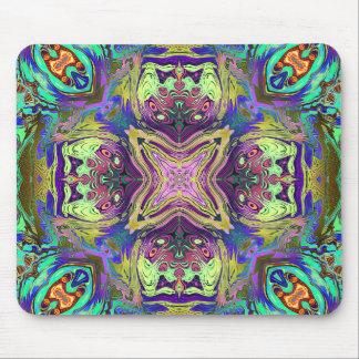 Mousepad Mandala abstrata colorida