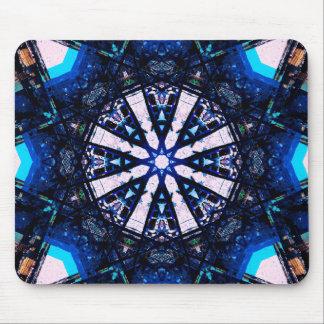 Mousepad Mandala da estrela do Fractal do borrão