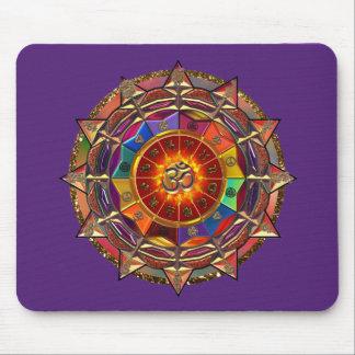 Mousepad Mandala simbólica de Sun do ouro