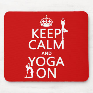 Mousepad Mantenha a calma e a ioga em (personalize cores)