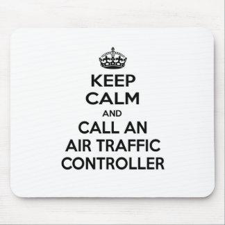 Mousepad Mantenha a calma e chame controlador aéreo