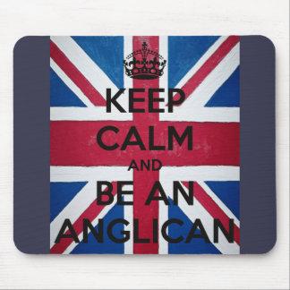 Mousepad Mantenha a calma e seja um anglicano