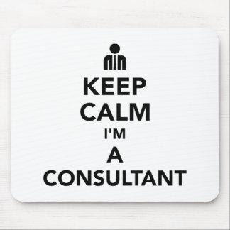 Mousepad Mantenha a calma que eu sou um consultante