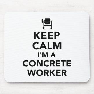 Mousepad Mantenha a calma que eu sou um trabalhador