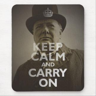 Mousepad Mantenha calmo & continue Winston Churchill