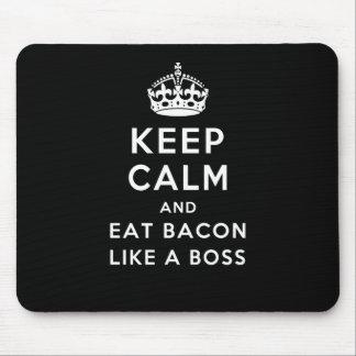 Mousepad Mantenha calmo e coma o bacon como um chefe