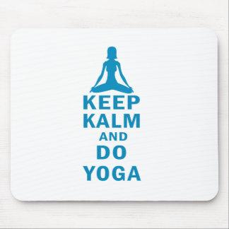 Mousepad mantenha calmo e faça a ioga